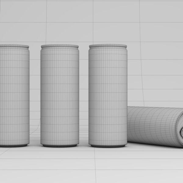 3D Visualisierung Getränkedosen